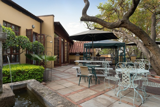 garden terrace venue for dining and functions in pretoria